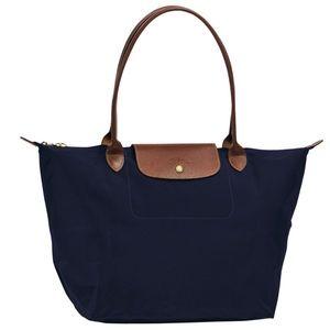 "Brand new large navy blue 18"" longchamp bag w/tags"
